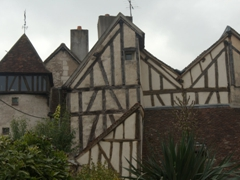 A hodgepodge of timbered houses; Auxerre