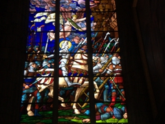 Stained glass window; Cathedrale St-Etienne in Auxerre