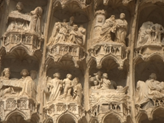 Phenomenal detail on the entrance arches of Auxerre's Cathedrale St-Etienne