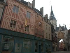 View of Auxerre's 1483 Tour de l'Horloge