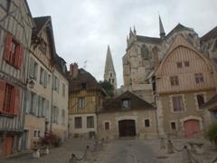 Cute townhouses just below Abbaye St-Germain; Auxerre