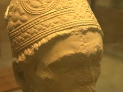 Elaborate headdress; Abbaye St-Germain