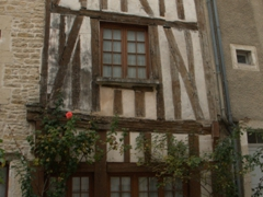 Noyers-sur-Serein is a lovely Burgundy town, full of half timbered houses