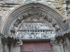Carved detail of Notre-Dame Church; Semur-en-Auxois