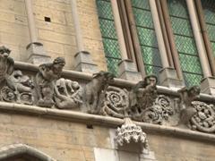 Hideous gargoyles on the Church of Notre Dame; Dijon