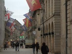 Strolling down Dijon's pedestrian street