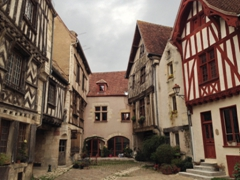 Beautiful timbered buildings; Noyers-sur-Serein