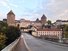 Sunset overlooking Semur-en-Auxois