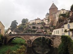 Bridge view of Semur-en-Auxois, one of Burgundy's prettiest villages