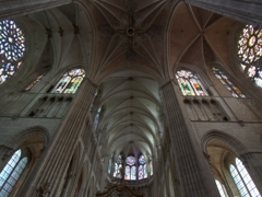 Ceiling view of the Cathedrale St-Etienne; Auxerre