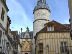 Another view of the Tour de l'Horloge, built in 1483 as part of Auxerre's fortifications