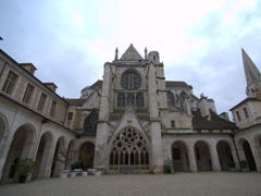 Wide angle view of Abbaye St-Germain; Auxerre