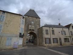Medieval gate leading to Noyers-sur-Serein