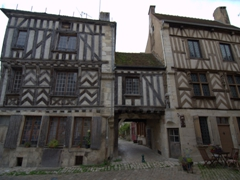 Half timbered houses; Noyers-sur-Serein