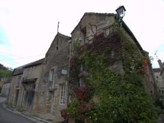 Vine covered house in Noyers-sur-Serein