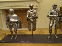 Knights armor on display at the Musée des Beaux-Arts; Dijon