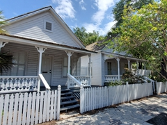 """Wooden """"casitas"""" that Spanish entrepreneur Vicente Ybor had built to lure workers with interest free home ownership; Ybor"""