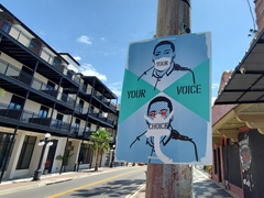 Your voice, your choice sign in Ybor