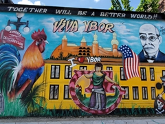 Street mural; Ybor