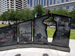 Gold star memorial; Tampa Riverwalk