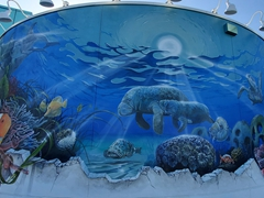 Mural painted at a bus station in Palmetto