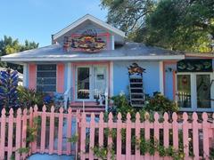 Colorful historic cottage; Bradenton