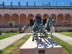 Courtyard of the John and Mable Ringling Museum of Art
