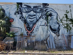 A mural by the artist MTO on the Sarasota Architectural Salvage building