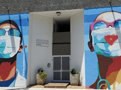 A mural dedicated to Sarasota's healthcare workers; Sarasota
