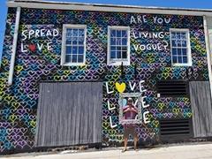 Love mural; Sarasota