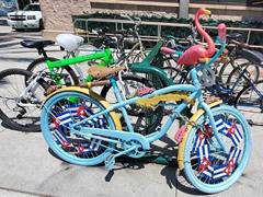 Bike decorated with a Cuban theme; Sarasota