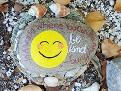 """Be Kind"" painted rock; Sarasota"