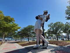 """26 foot tall """"Unconditional Surrender"""" statue commemorating the end of WWII; Bayfront Park; Sarasota"""