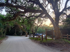 Dirt road leading to Snook Haven; Venice