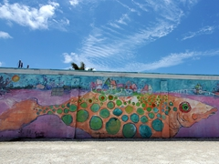 Fish mural in the funky, quaint little fishing village of Matlacha