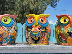 Talavera owl pots for sale; Matlacha