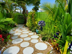 Cute section of Lovegrove's garden; Matlacha