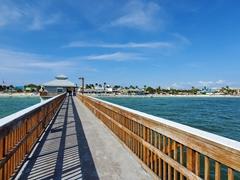 Fort Myers beach pier - a popular place to watch sun set