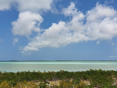 The view as we drove down the keys