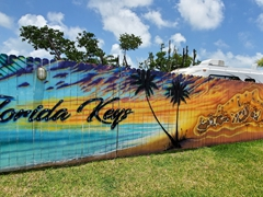 Mural at Leo's Campground; Key West