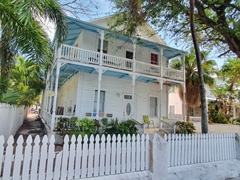 Typical conch house in Key West (attributed to immigrants from the Bahamas)