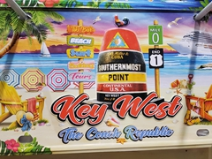 Key West license plate souvenir
