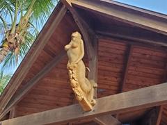 Mermaid figurehead at Square Grouper Tiki Bar; Jupiter