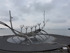 Sun voyager, a steel sculpture of a ship in Reykjavík