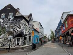 Street art abounds on Laugavegur, Grettisgata and Skólavörðustígur streets in downtown Reykjavík