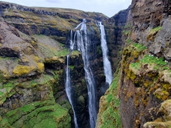 At long last, we reached Glymur waterfall and had it all to ourselves!