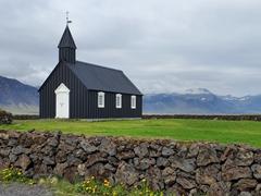 The tiny black church at Budir, the often photographed Búðakirkja