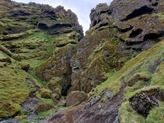 Entrance to the Rauðfeldsgjá Ravine