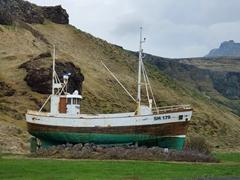 Old fishing boat Tindur SH-179; Ólafsvík