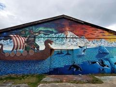 """""""The Myth of Bárður"""" mural painted by Camilo Arias"""